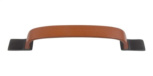 Hamptons Saddle Leather Pull 7 9/16 Inch (c-c) - Aged Bronze
