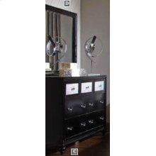 Barzini Black Dresser Mirror