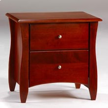 CLOVE NIGHTSTAND-CHERRY FINISH