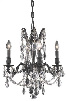 8204 Rosalia Collection Hanging Fixture Dark Bronze Finish
