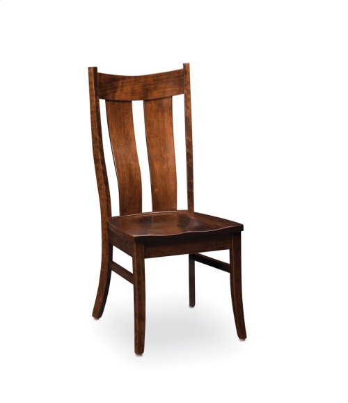 Corbin Side Chair, Leather Cushion Seat
