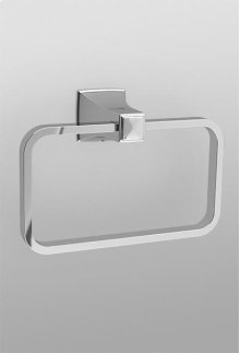 Brushed Nickel Traditional Collection Series B Towel Ring