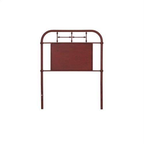 Twin Metal Headboard - Red