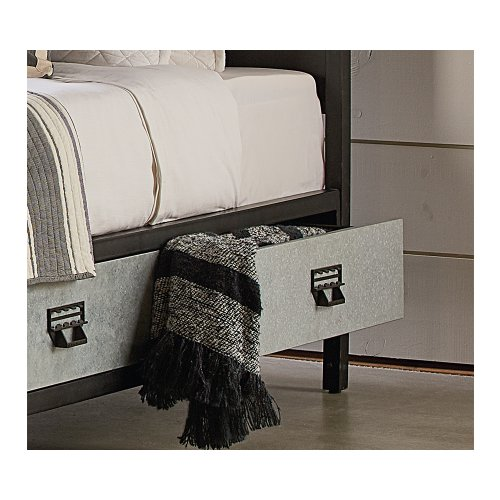 Metal Stair Rail Youth Storage Twin Bed