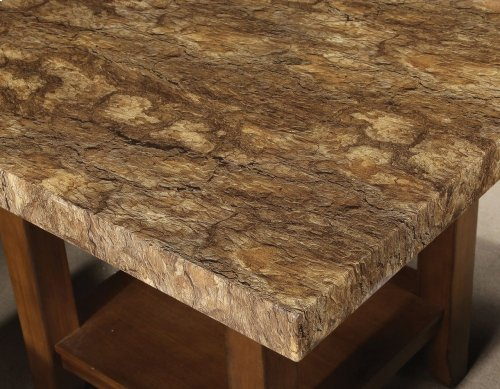 "Cavett Faux Marble Square Counter Tbl 48"" x 48"" x 36"""