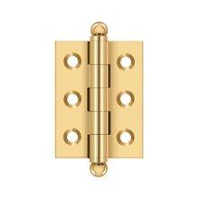 "2""x 1-1/2"" Hinge, w/ Ball Tips - PVD Polished Brass"