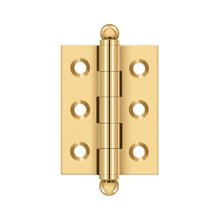 "2""x 1-1/2"" Hinge, w/ Ball Tips - PVD Polished Brass"