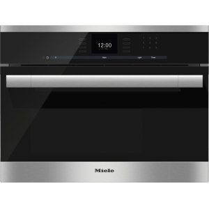 MieleBuilt-in steam oven with a large text display and SensorTronic controls for extra convenience.