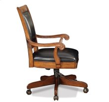 Cantata Executive Desk Chair Burnished Cherry finish