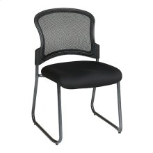 Titanium Finish Black Visitors Chair With Progrid® Back and Sled Base