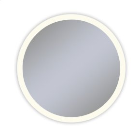 """Vitality 40"""" Diameter X 1-3/4"""" Depth Circle Lighted Mirror With Perimeter Light Pattern, 2700 Kelvin Temperature (warm Light), Dimmable and Defogger"""