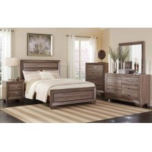 Kauffman Transitional Washed Taupe California King Bed