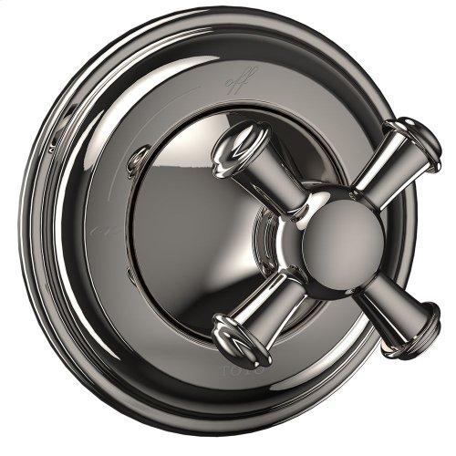 Vivian Volume Control Trim- Cross Handle - Polished Nickel