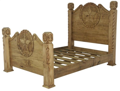 Queen Country Bed W/Rope&Star