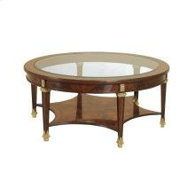 CORSAIR MAHOGANY COCKTAIL TABLE
