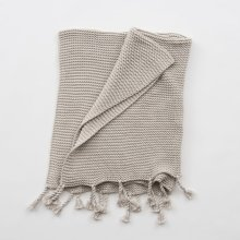 Comfy Knit Throw - Light Grey
