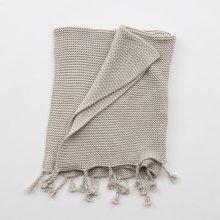 Comfy Knit Throw - Light Grey