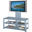 "3-tier TV Stand, Silver/clear Glass, 47.5""LX19.5""WX52""H Product Image"