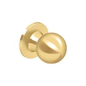 Round Knob Dummy - PVD Polished Brass