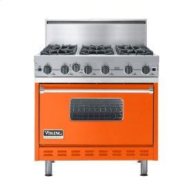 "Pumpkin 36"" Open Burner Commercial Depth Range - VGRC (36"" wide, six burners)"