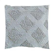 "Karina Woven Diamond Square Pillow (22"" x 22"") - Oatmeal"