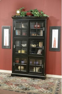 6-Panel Sliding Door Bookcase