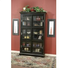 6-Panel Sliding Door Bookcase
