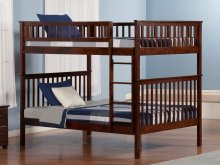 Woodland Bunk Bed Full over Full in Walnut