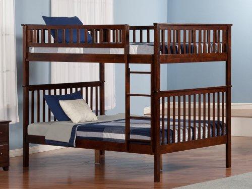 Woodland Bunk Bed Full over Full in Walnut