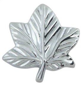Vineyard Leaf Knob 2 Inch - Polished Chrome