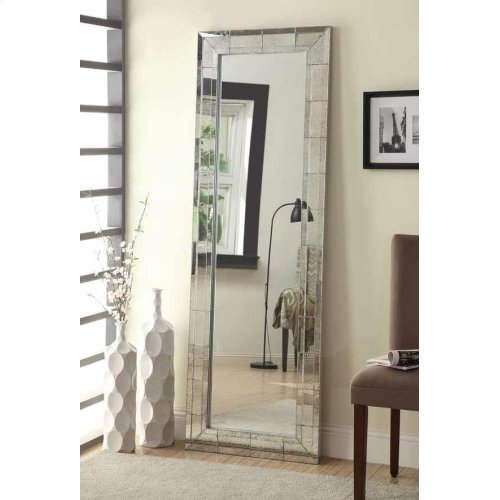 Contemporary Antique Silver Mirror