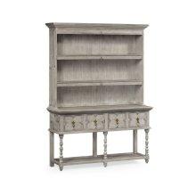 Tudor Style Grey Oak Welsh Dresser
