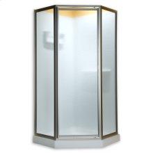 Neo Angle Shower Doors - Brushed Nickel