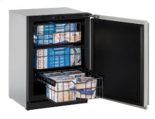 """Modular 3000 Series 24"""" Freezer With Stainless Solid Finish and Field Reversible Door Swing"""