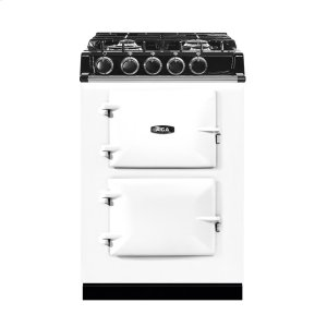 "AGAAGA City 24"" Electric/Natural Gas White with Stainless Steel trim"