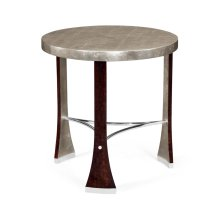 Black Eucalyptus Round Side Table