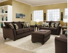 3850 - Flannel Espresso Sofa