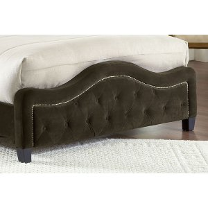 Trieste Fabric Footboard - King - Chocolate