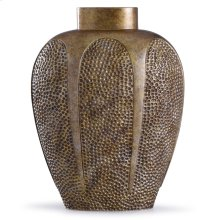 Chateau Gold  17in x 7in Traditional Hammered Resin Vase