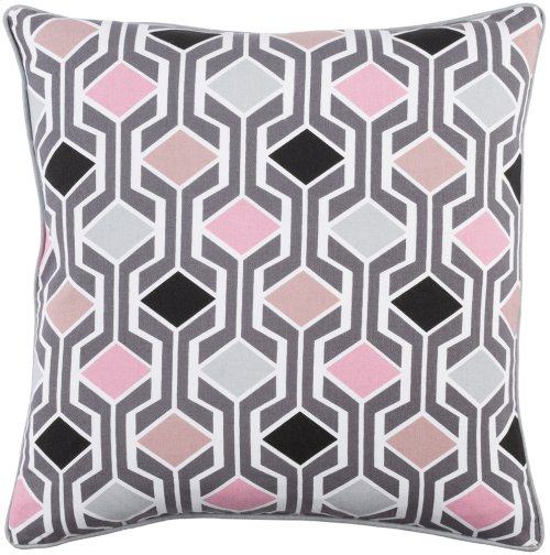"Inga INGA-7031 18"" x 18"" Pillow Shell with Polyester Insert"