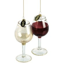 Wine Glass Ornament (2 asstd).