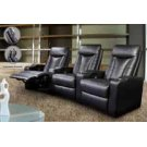 Pavillion Black Leather Four-seated Recliner Product Image