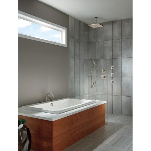 Stainless Ceiling Mount Shower Arm & Flange