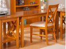 Lexi Work Table in Caramel Latte Product Image