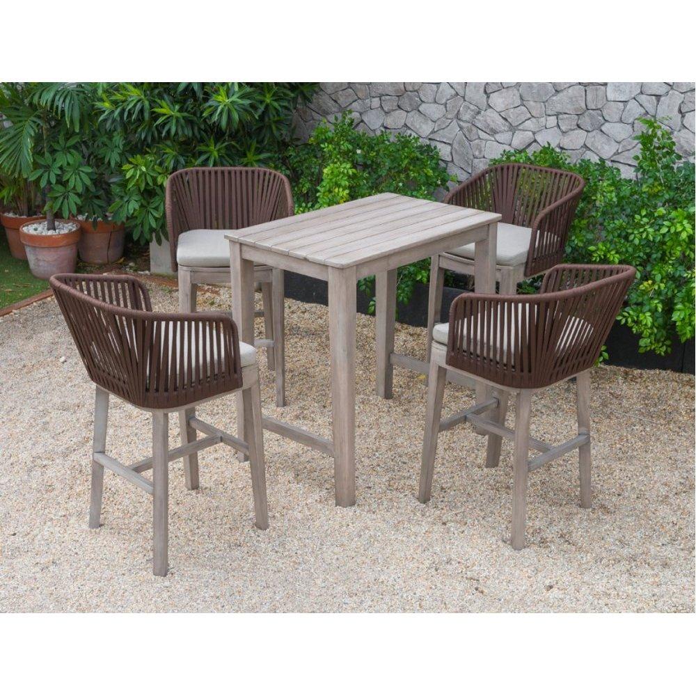 Renava Fiji Outdoor Beige Bar Table Set