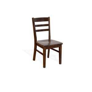 Santa Fe Ladderback Chair W/ Wood Seat