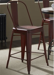 Bow Back Counter Chair - Red30