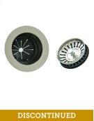 EZ Mount Metal Disposer Flange with Matching Strainer/Stopper Basket - Brushed Nickel Product Image