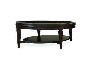 Classics Oval Cocktail Table With Glass Top