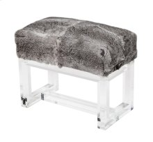 Avalon Stool - Rabbit Fur